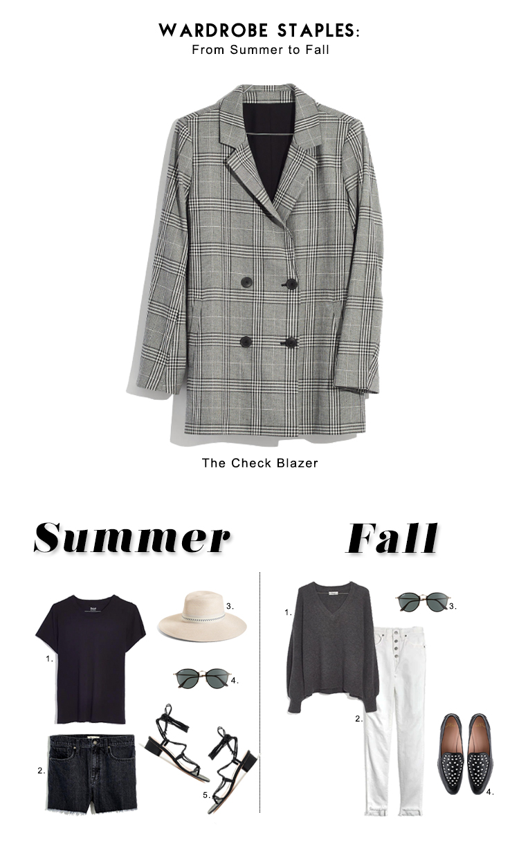 how to style the check blazer