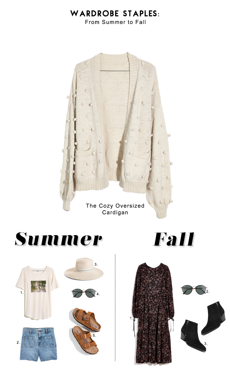 cozy cardigan summer to fall looks