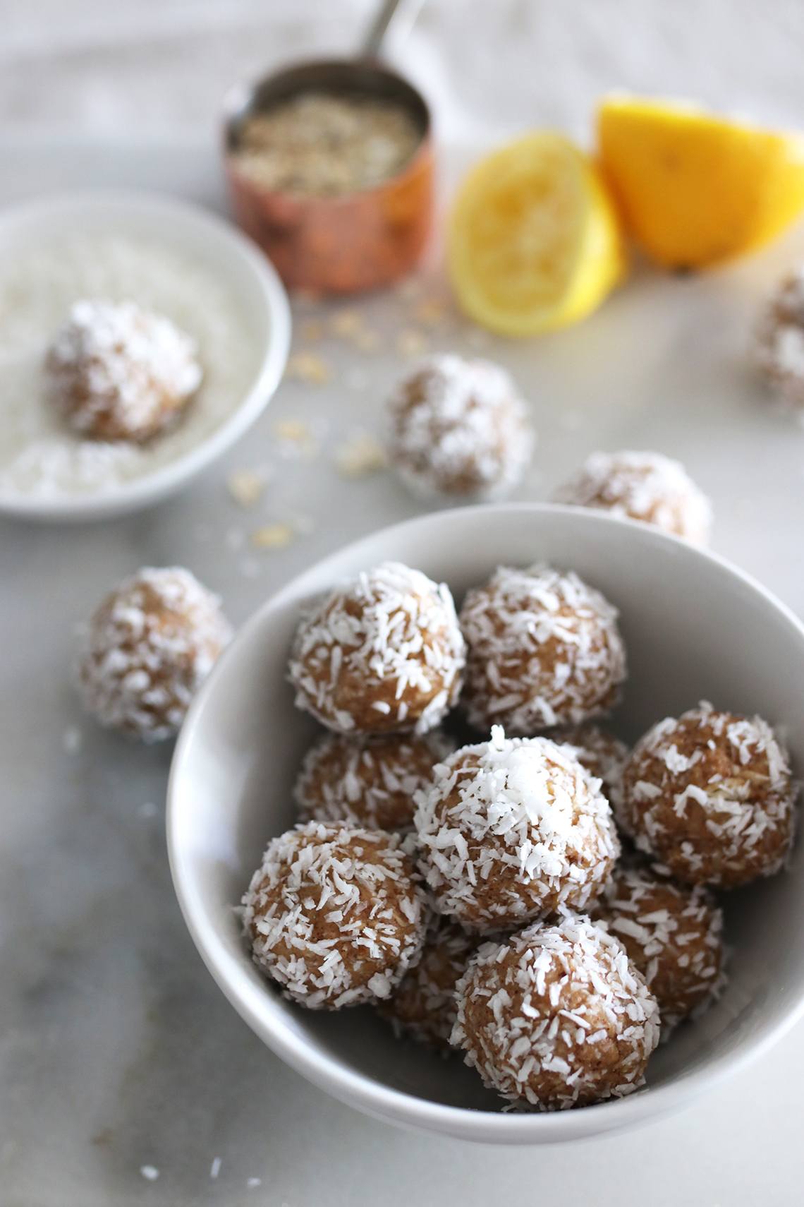 coconut lemon energy balls