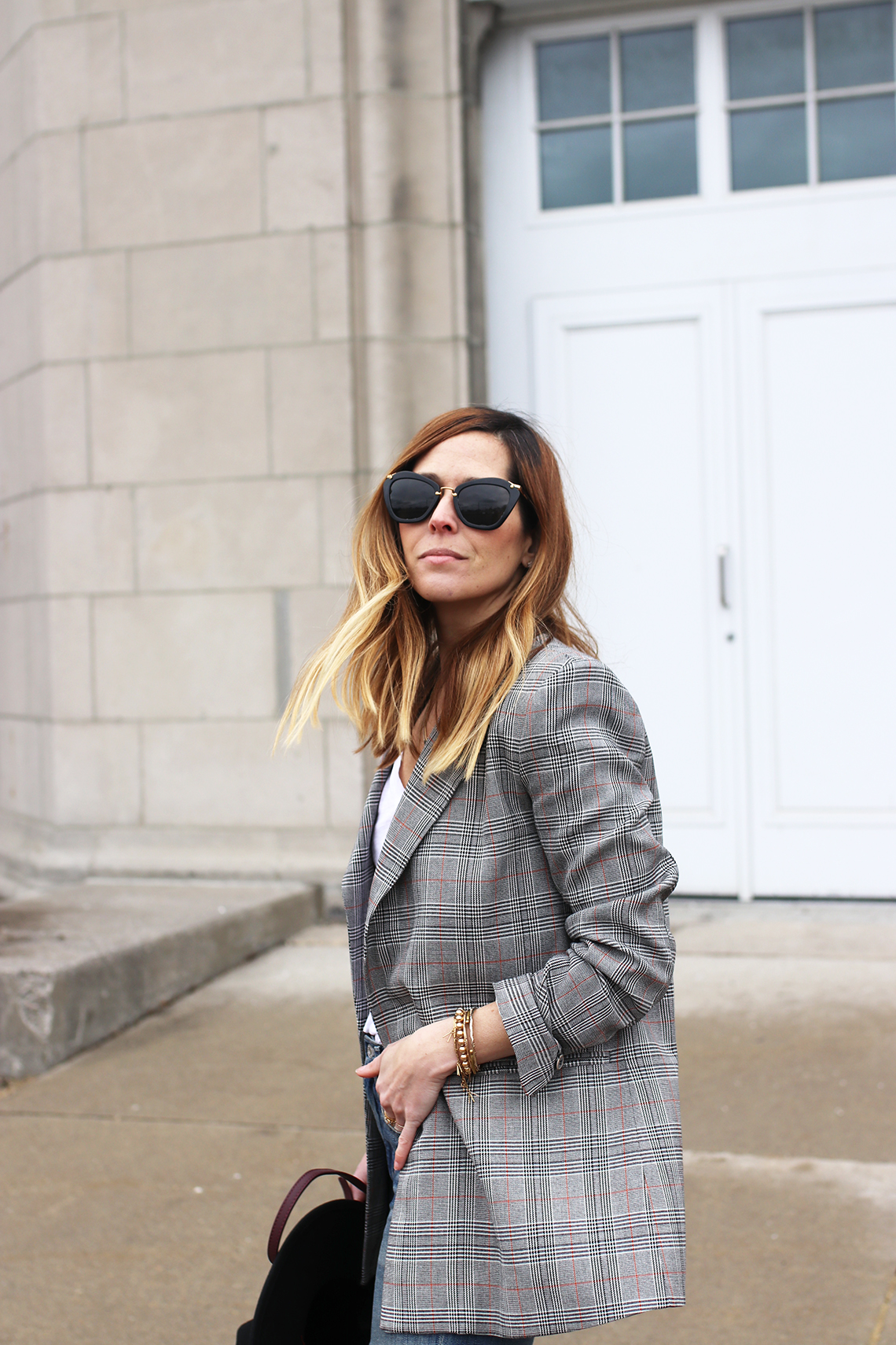 how to style your plaid blazer now and later