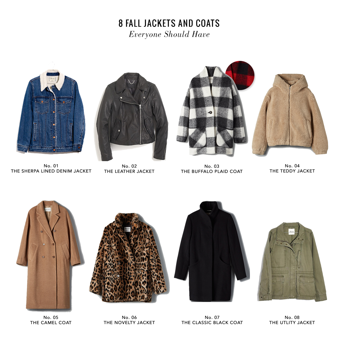 8 jackets to have for fall